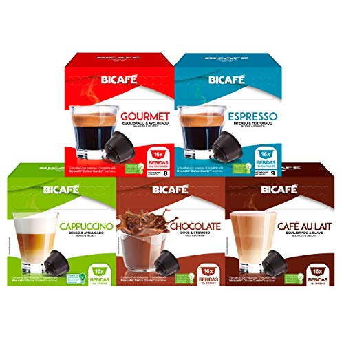80 Cápsulas Para Dolce Gusto - 5 Caixas - Kit Café E Bebida - Cápsula Bicafé