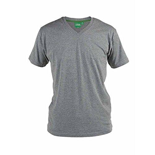 Duke D555 - Camiseta de algodón en Talla Grande Modelo Signature para Hombre (5XL) (Gris)