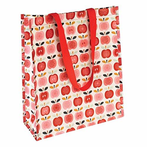 LS Design Shopper Einkaufstasche Recycled Strandtasche Schultertasche Apple Apfel