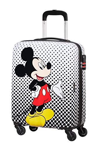 American Tourister Disney Legends Spinner S Valigia per bambini, 55 cm, 36 L, Multicolore (Mickey Mouse Polka Dot)
