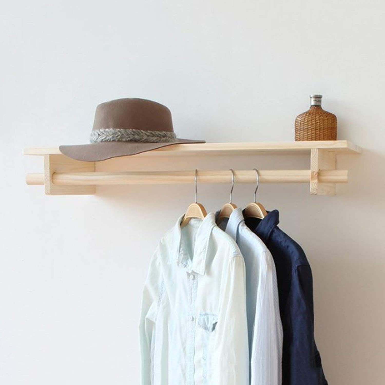 Simple Coat Coat Rack Wooden Retro Combination Hanger Wall Hanger Hook Suitable for Living Room Bedroom Study Clothing Store