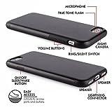 """Case für iPhone 7 (4,7″) Thin Fit Hülle """"PU Leather"""" – PU Leder Tasche für Apple iPhone 7, Schutzhülle mit Soft Feel Coating in schwarz von QUADOCTA® – Idealer Schutz für Diamantschwarz Jet Black iPhone7 - 3"""