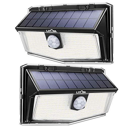 300 LED Luci Solari Esterno, Luce Solare con Sensore di Movimento, 270ºIlluminazione wireless Lampada Solare per Giardino, Parete Wireless Risparmio Energetico