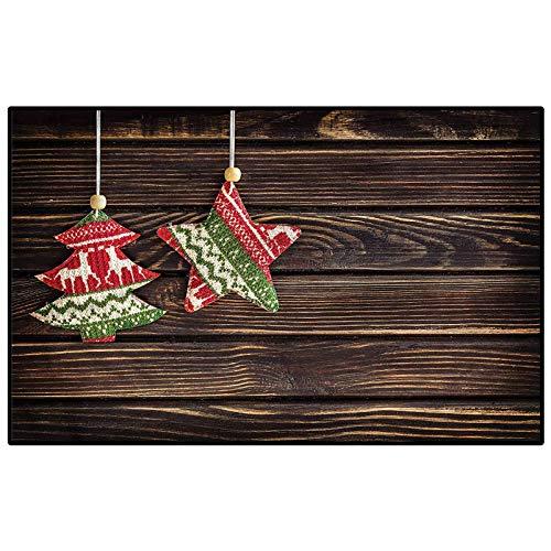 Christmas Children Boys Girls Bedroom Rugs Retro Pine Tree Xmas Carpet Ball Table Kids 4.5 x 5.2 Ft