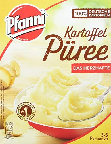 Pfanni Kartoffel Püree mit herzhaft kräftigem Geschmack 3 x 3 Portionen, 7er Pack (7 x 243 g)
