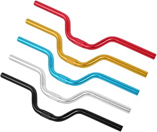 Tbest Riser Handlebars, Aluminum Alloy Mountain Bike Road Bicycle Fixed Gear Riser Bar Handlebar 25.4mm520mm(Black)
