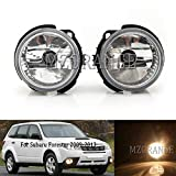 MZORANGE Fog Light Front Driving Fog Lamp For Subaru Forester 2009 2010 2011 2012 2013 Clear Len with Halogen Bulb (Left and Right)