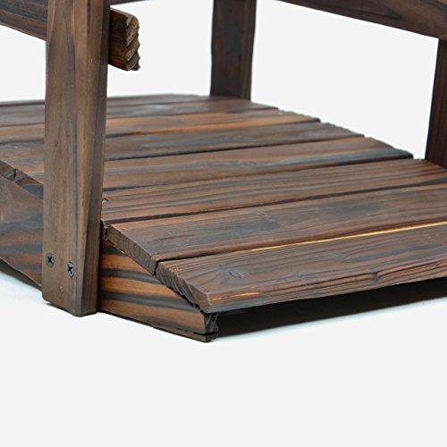 Nexos kleine Holzbrücke Teichbrücke Teich Garten Holz Deko Brücke mit Geländer braun - 3