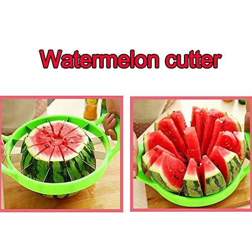 ZTXY Watermelon Slicer Muti-Function Kitchen Cooking Fruit Cutting Tools Stainless Steel Fruit Cantaloup Melon Slicer for Home Diameter 25cm