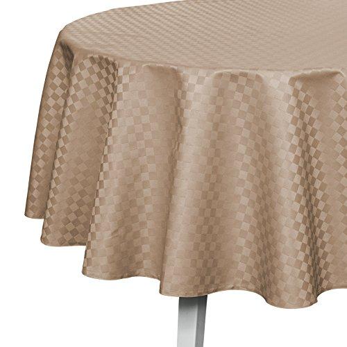 Pichler CASA abwischbare Tischdecke nach Maß taupe (r& 170cm)