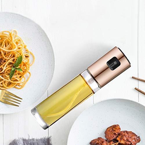 Vaugan Edelstahl-Ölsprüher, Anti-Auslauf, für Essig, Sojasauce, zum Grillen, Backen, Küche, Kochen Rose Gold
