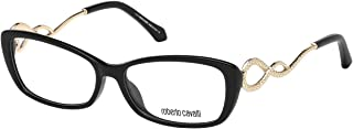 Roberto Cavalli RC5010 - 001 Eyeglass Frame shiny black w/ Clear Demo Lens 54mm