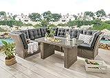 Destiny - Conjunto de muebles de salón Palma Riviera XL, vintage, color gris