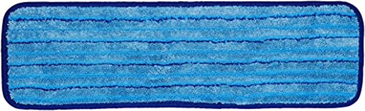 Amazon Basics Microfiber Damp Mop Cleaning Pad with Stripes, 18 Inch, 12-Pack