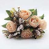 Piezas Artificial Peonía Seda Flores Bouquet para Boda Inicio Jardín Fiesta Decoración Vintage Artificial Rose Peony Wedding Home Bouquet Bodas, oficinas, hoteles, decoración, arreglos Florales