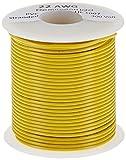 Remington Industries 22UL1007STRYEL UL1007 22 AWG Gauge Stranded Hook-Up Wire, 300V, 0.0253' Diameter, 100' Length, Yellow