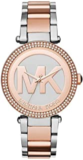 Michael Kors Parker Watch for Women - Analog Stainless Steel Band