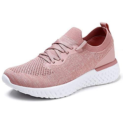 HKR Scarpe Donna Sneakers Moda Strada Running Camminare Fitness Sneakers Traspirante Tennis per Gym Estive Primavera Rosa 39 EU