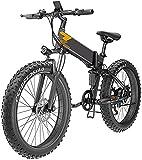 Bici elettriche 400 W 26 pollici grasso pneumatico elettrico bicicletta in mountain bike bici da neve per adulti, pieghevole mountain bike, biciclette da montagna, ebike 7 velocità leggera bicicletta