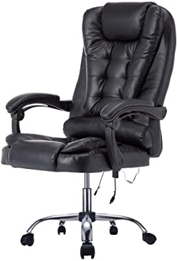 "Bestor® Back Massage Chair With Vibration"" With Leatherette Home office Executive Ergonomic Design Desk Revolving Chair W"
