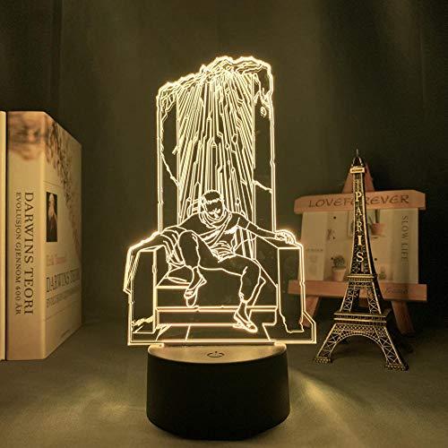 Lámpara nocturna 3D de ilusión Akira Shima Tetsuo Anime LED de luz para dormitorio, decoración nocturna infantil, regalo de cumpleaños o escritorio, lámpara 3D Akira Shima Tetsuo ZMSY