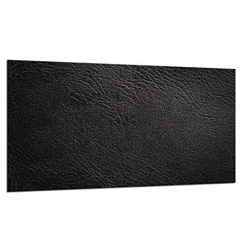 TMK | Placa de cristal para cubrir la vitrocerámica de 90 x 52 cm, protección contra salpicaduras, protección contra salpicaduras, para decoración de cocina, color negro