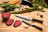 Zeuß Set Küchenmesser (32 cm und 24 cm) Damastmesser - Profimesser - Santoku - Kochmesser - Chefmesser - Allzweckmesser - 67 Schichten Japanischem Damaststahl - 2