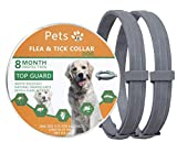 Petsvv 2 Pack Flea and Tick Prevention for Dogs Collar, Allergy Free and Hypoallergenic, Repels Fleas & Ticks Collar, 100% Natural Ingredients, 25 inch