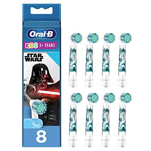 Oral-B Kids Brossettes de rechange pour Brosse à Dents Électrique Format Spécial Boîte Aux Lettres, Pack de 12, 3 ans et plus, Édition Star Wars