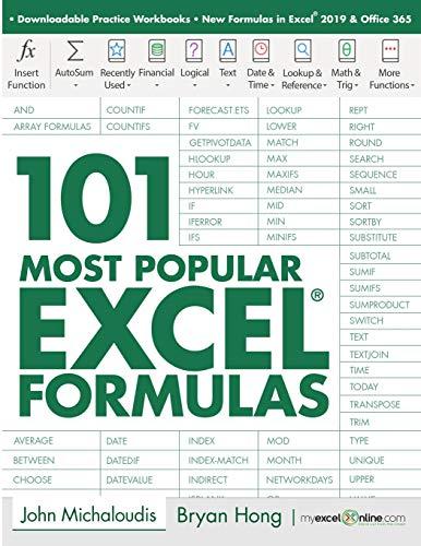101 Most Popular Excel Formulas (101 Microsoft Excel Series)
