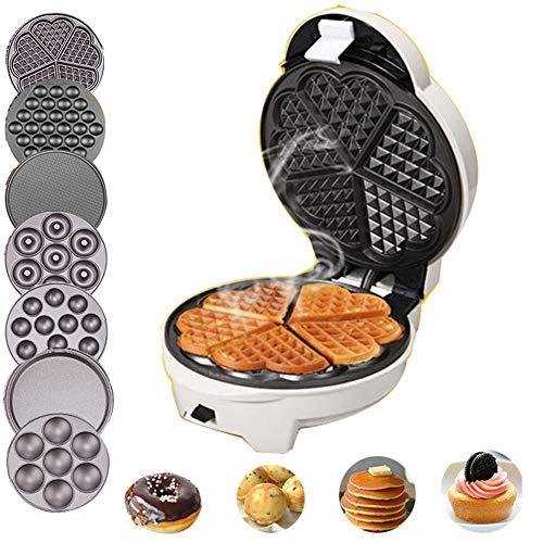 Sandwich Maker Casa Creatore della Cialda Multifunzionale Colazione Macchina con 7 Diversi Cottura Forme per Fare Egg Rolls/Muffins/Donuts/Dolci ECC with 7 Sets of Baking Trays