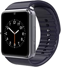Lanwande Smart Watch GT08 Bluetooth Smartwatch Touch Screen Wrist Watch Sports Fitness Tracker with Camera SIM SD Card Slot Pedometer Compatible iPhone iOS Android for Kids Men Women (Black)
