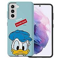 """Galaxy S21 Ultra ケース と互換性があります Disney Donald Duck ディズニー ドナルドダック ダブル バンパー ケース デュアルレイヤー 【 ギャラクシー S21 ウルトラ ケース (6.8"""") 】 (面 ドナルドダック) [並行輸入品]"""
