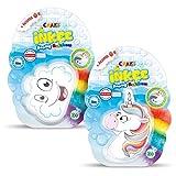 CRAZE Inkee 31209-Juego de 2 Bombas de baño para niños, diseño de arcoíris, Color carbón (31209)
