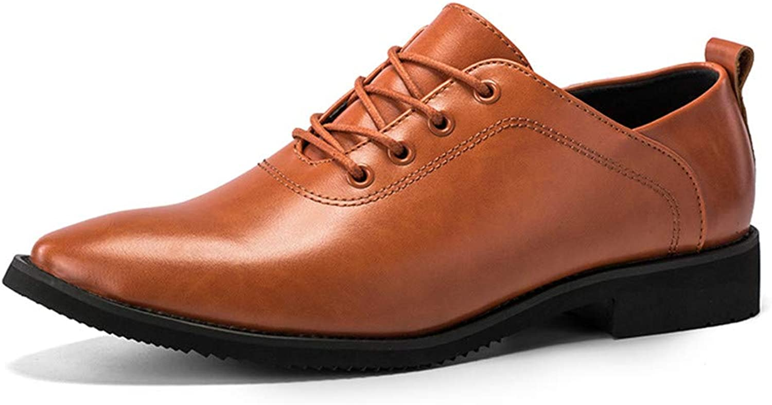 Z.L.F shoes Men's Business Oxford British Style Low Upper Lacing Formal shoes Leather shoes