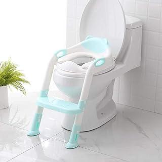 Potty Training Seat Folding Baby Potty Infant Kids Toilet Training Seat with Adjustable Ladder Portable Urinal Potty Train...