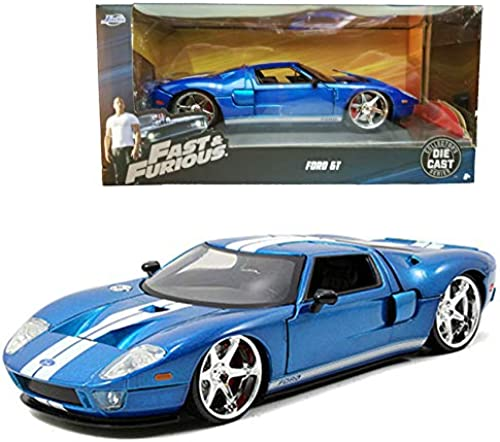 Jada 1 24 Fast & Furious 5 Die-Cast Ford GT voiture bleu Model Collection