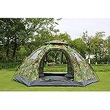 HAOXUAN Tente Rapide Ouverte Automatique Mongole Tentes Personne Anti UV Étanche, pour Toutes Saisons Hexagonale Yourte Tente De Camping