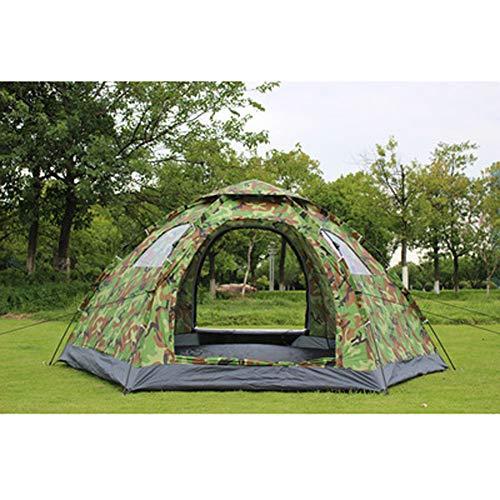 HAOXUAN Zelt Schnell Offnen Automatische Mongolische Zelte Person Anti UV Wasserdicht, Für Alle Jahreszeiten Sechseckiges Jurten Camping Zelt