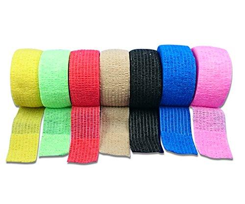 Bunter Mix 7er Set LisaCare Pflasterverband, Fingerpflaster, Rollenpflaster, elastische Pflaster ohne Kleber