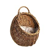 Handmade Hanging Planters Woven Basket Natural Wicker Storage Flowers Wall Mounted Plant Pots for Home Garden Wedding Lobby Store Restaurants Hotels Offices Decoration 12.20'' x 4.33'' x 2.75''