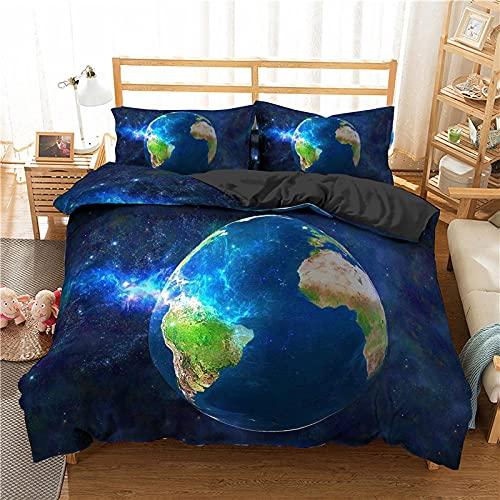 Copripiumino Serie Galaxy Blue Nebula Universe Tessuti Per La Casa Psichedelici Di Lusso Set Di Biancheria Da Letto Queen King Size Trapunta Set Matrimoniale Singolo Comodo Per Bambini Ragazza Adulto