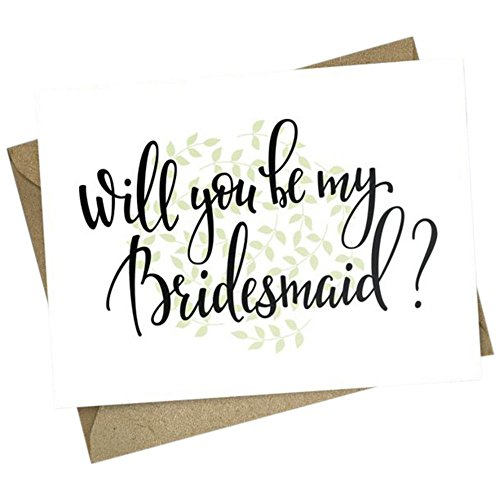 Will You Be My Bridesmaid Wedding Card Style CRD02, White