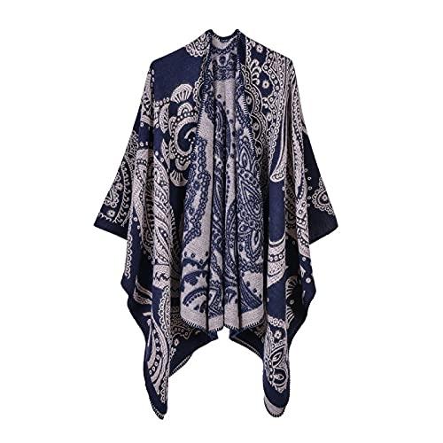 Chal bufanda señoras chaqueta cálida imitación cachemir capa capa toalla de playa 10