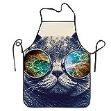 Photo de Fs2A1X Novelty Cashmere Cat Sunglasses Unisex Kitchen Chef Apron
