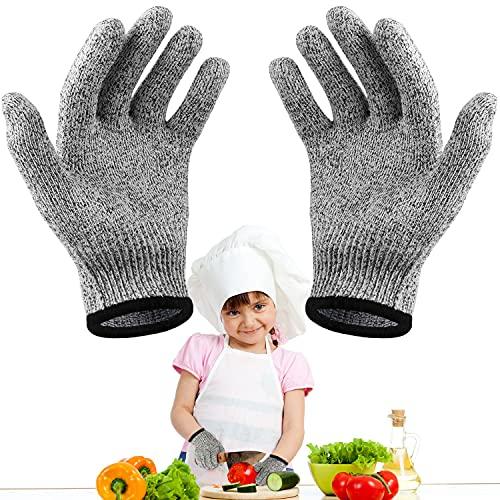 LADYSON für Kinder Schnittfeste Handschuhe,Kinder Arbeitshandschuhe Schnitzhandschuh-Schnittschutz Level 5,Geeignet zum Kochen, Schnitzen und Gärtnern (XXXS(3-5 Jährige))