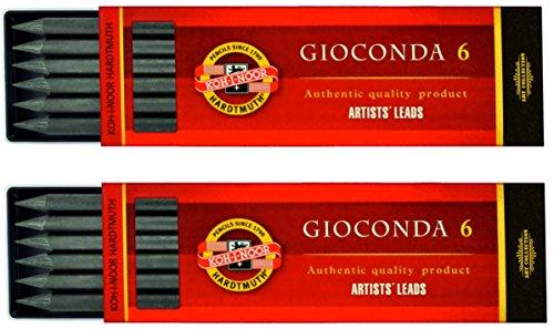 KOH-I-NOOR Gioconda H4865-2B Matic Mine per Portamine 2B matite mina 5,6mm - K4865 - 2 Sets