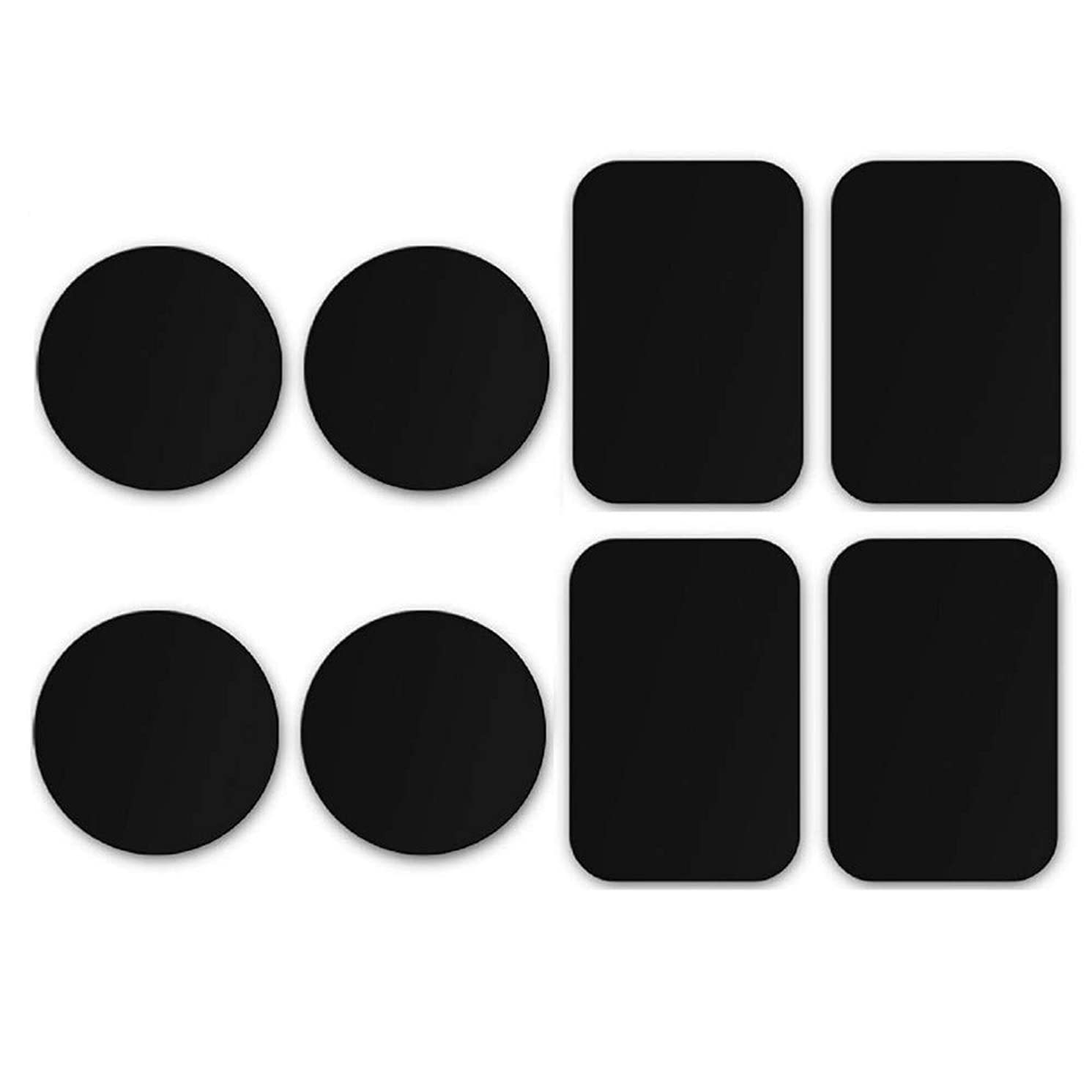 Gmgod????8-Pack Metal Plates Adhesive Sticker Replace for Magnetic Car Mount Phone Holder Black