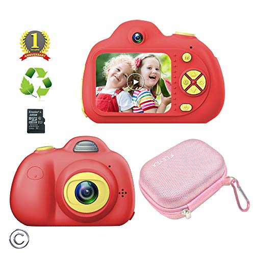 Find Discount Feeyea Kids Camera for 5-10 Year Old Girls,Compact Kids Camera with Carrying Case and ...