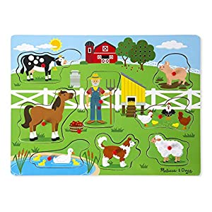 Melissa & Doug Old MacDonald's Farm Sound Puzzle by Melrt